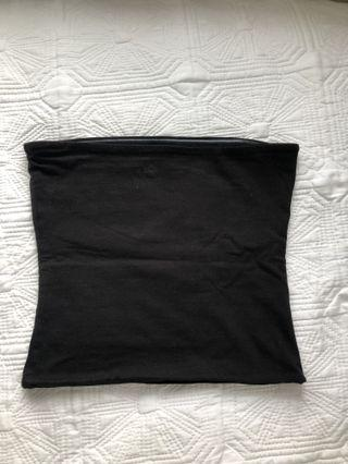 Black boobtube/ strapless top