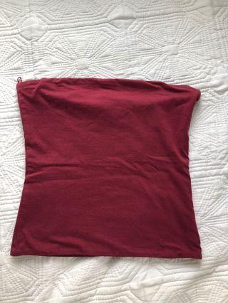 Maroon boobtube/ strapless top