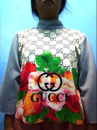 Blouse Bunga Gucci