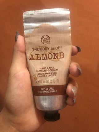 Body shop hand and nail cream