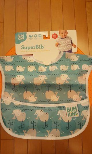 Bumkins Super Bib 全新嬰兒食物圍巾 膠面質地
