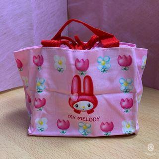 【My Melody】美樂蒂花朵便當袋
