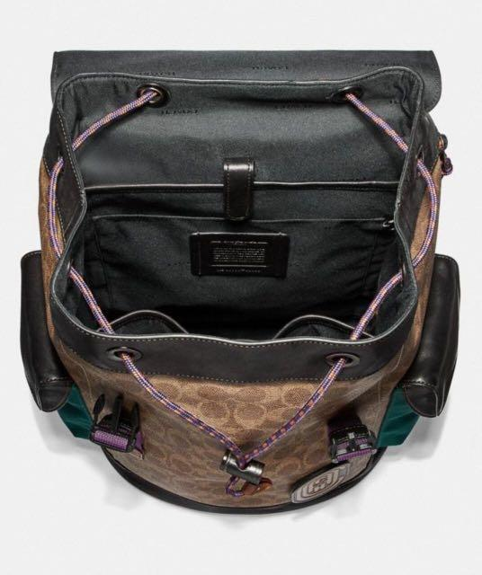 Authentic coach rivington backpack in signature canvas with coach patch