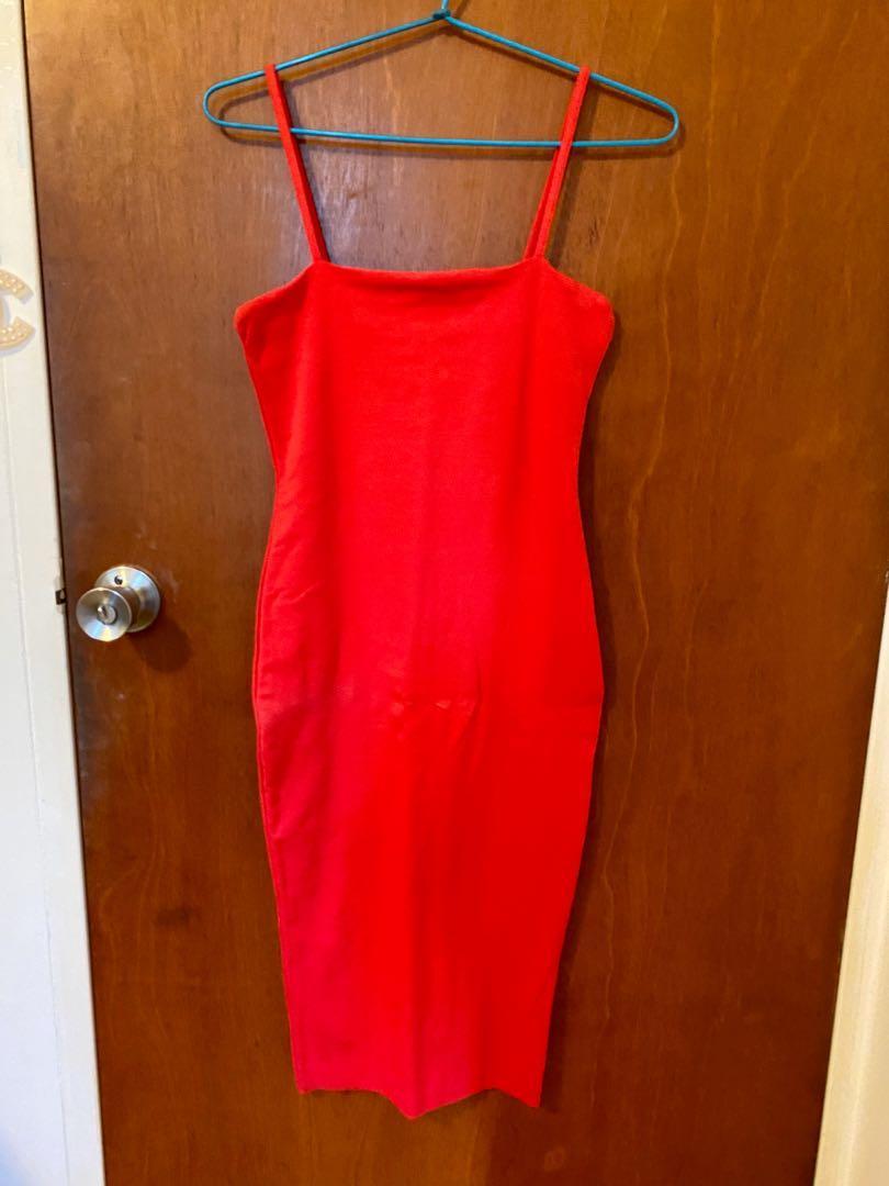 Bnwt Kookai red midi dress size 2 (tiny hole see photos)