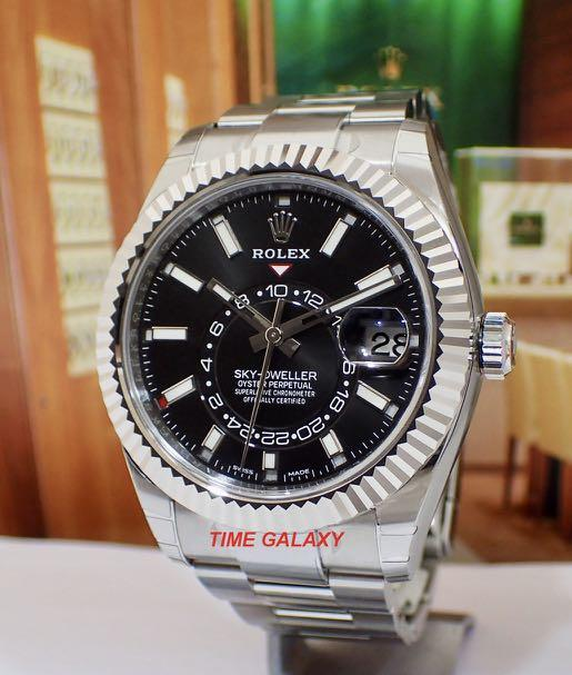 Brand New ROLEX Sky-Dweller 326934 Black Dial 42mm Annual Calender GMT