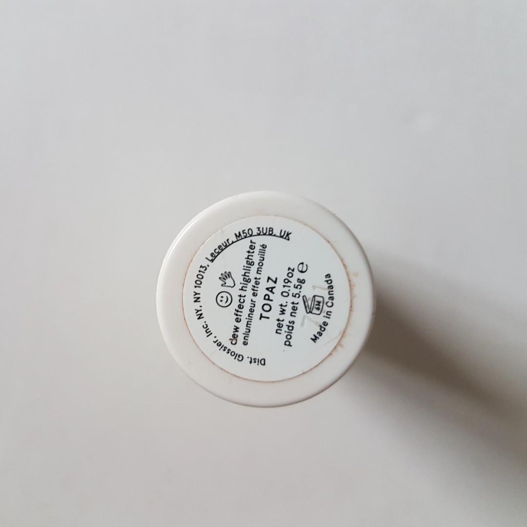 GLOSSIER MAKEUP Clear Boy Brow + Topaz Haloscope, USED ONCE
