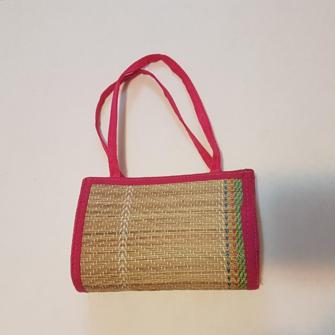 HAND WOVEN Handbag + Sunglasses Pouch - BRAND NEW, NEVER USED