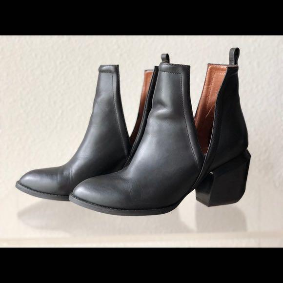 Jeffrey Campbell Orwell 2 Ankle Slit Boots Size 7.5 Womens