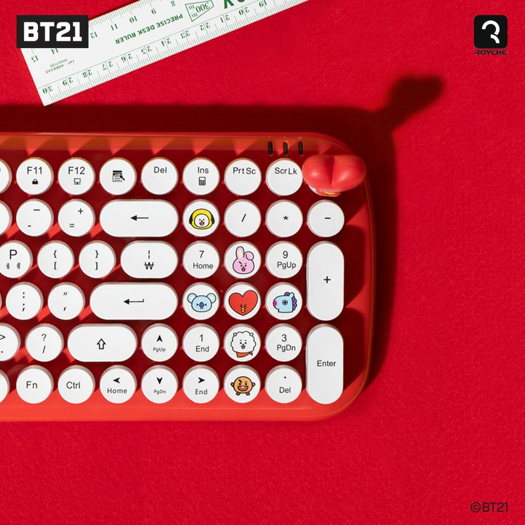 (PO/Set) Official BTS BT21 x Royche Keyboard Face Keycap
