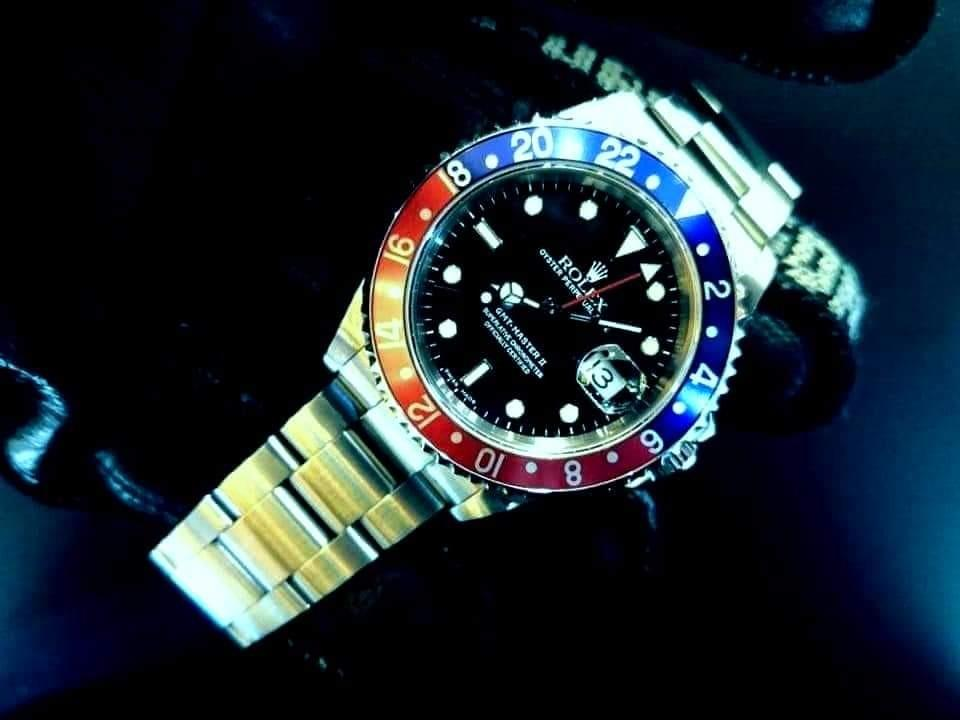 PREOWNED ROLEX GMT MASTER II, PEPSI , 16710, Oystersteel, 40mm, K Series @ Year 2002 Mens Watch