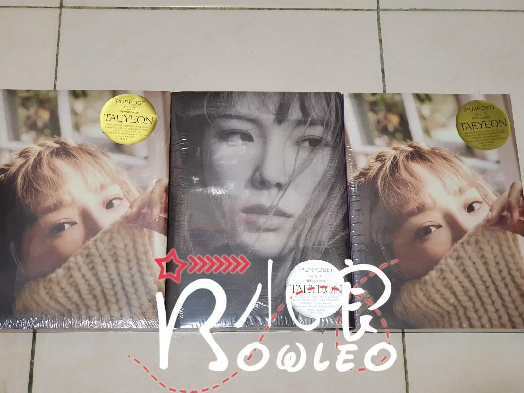 Ready Stocks Taeyeon 2nd Album Repackage (Purpose)