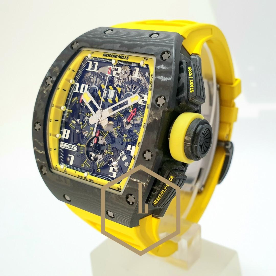 """Richard Mille RM011 Chronograph NTPT Americas """"Yellow Storm"""" Limited Edition of 50 Pcs In Pre-owned, Mint Condition"""