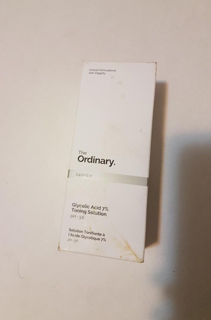 The Ordinary Skincare Glycolic Acid 7% Toning Solution, BRAND NEW IN BOX