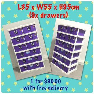 Toyogo 6tier Twin storage cabinet/drawer with wheels