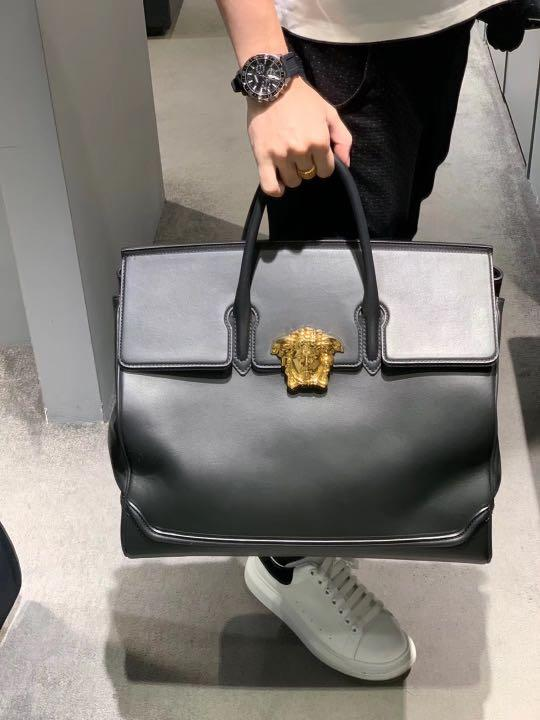 🧧🌹VALENTINE NEW🌹🧧100% AUTHENTIC VERSACE PALAZZO EMPIRE LARGE LEATHER BAG