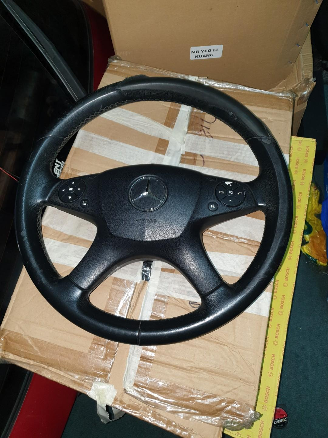 W204 Mercedes C Class Steering Wheel For Sale Car Accessories Accessories On Carousell