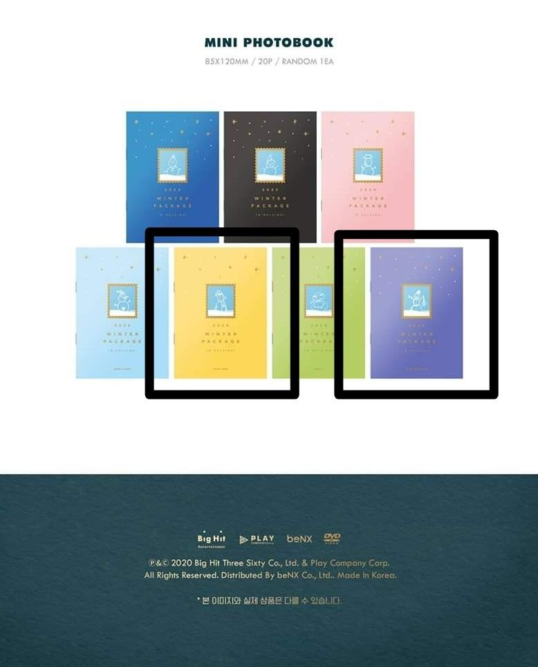 [WTB] BTS 2020 Winter Package Mini Photobook (Jimin & Jungkook)