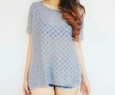 Gaudi grey knit top