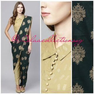 Adaa Collections   Sarees   Women Wear   Pant style modern chic pure cotton Sarees