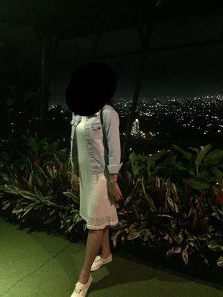 Dress terusan putih merk HARDWARE