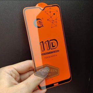 Xiaomi redmi note 8 tempered glass full layar 5D 9D 11D