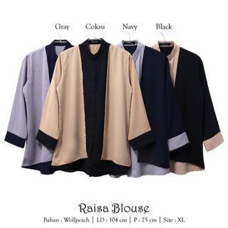 Baju atasan wanita raisa blouse baju muslim blus muslim