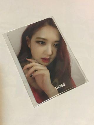 Black pink rose專輯小卡