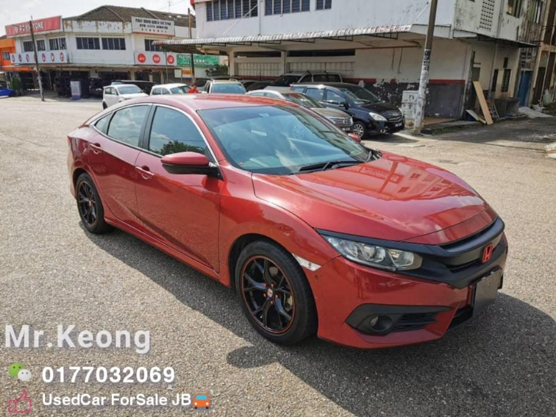 2016TH 🚘HONDA CIVIC 1.8AT L I-VTEC FACELIFT🚘PUSHSTART🎉Low MILEAGE 8XXXXKM Cash OfferPrice💲Rm79,800🚨Loan Monthly Rm950 Only⚠️LowestPrice InJB🎉Call📲 KeongForMore🤗