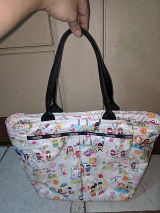 Lesportsac its a small world tote bag