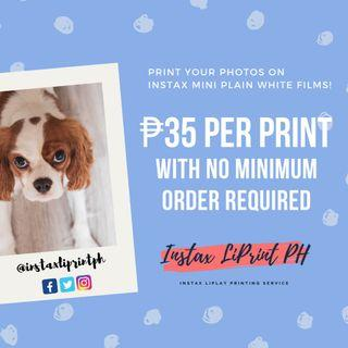 Instax Printing Services