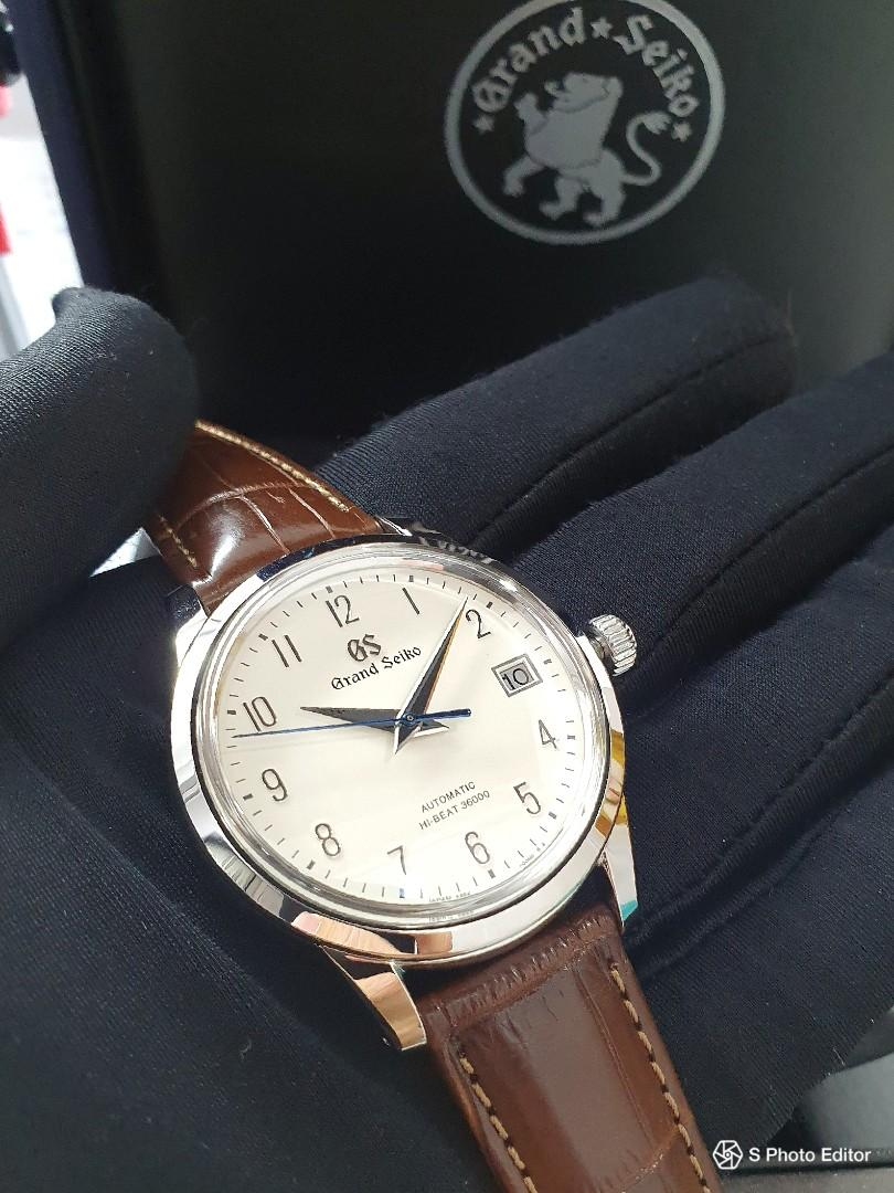 * FREE DELIVERY * Brand New 100% Authentic Grand Seiko Cream Dial Hi-Beat Men's Automatic Dress Watch SBGH213