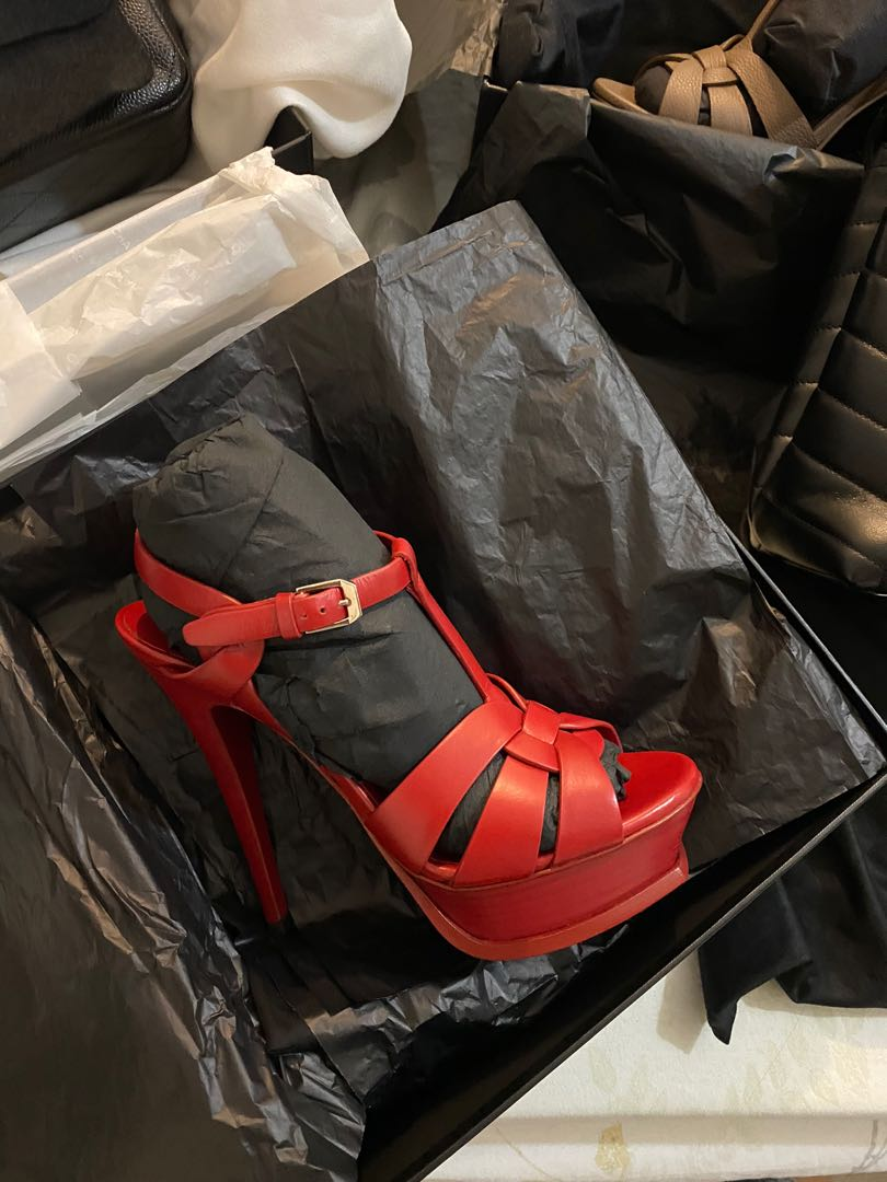 Bnew YSL Tribute High Heels in Red