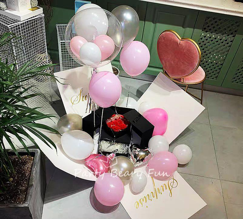 Surprise Box |Customised Helium Balloons |Personalised Gift Present|Birthday  |Gender Reveal | Proposal | Vday Valentine's Day, Design & Craft, Others on  Carousell