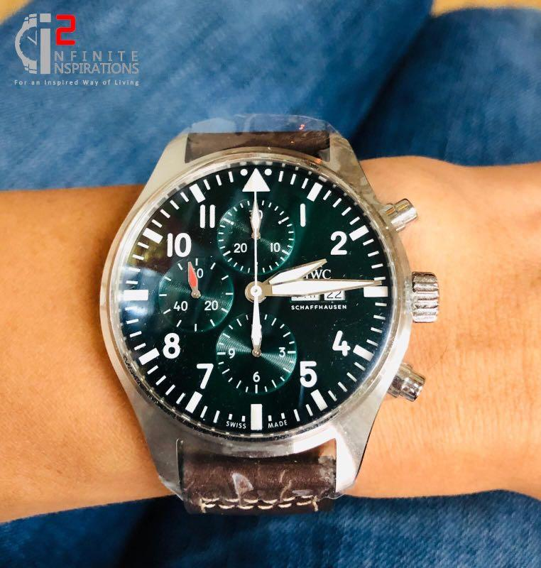 IWC Pilot Chronograph Racing Green Limited Edition Ref: IW377726 - Unworn and Complete package from overseas boutique.