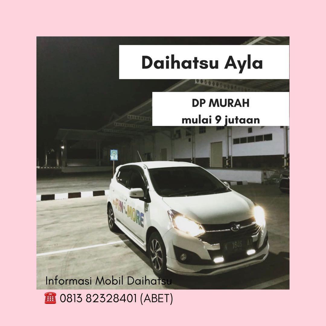 PROMO DP RINGAN Daihatsu Ayla mulai 9 jutaan. Daihatsu Pamulang