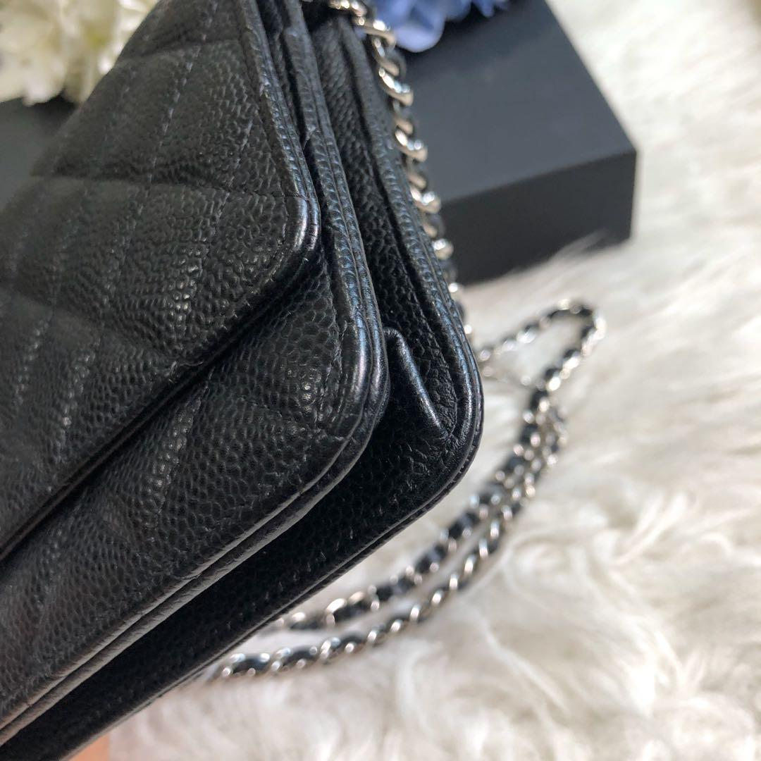 ✖️SOLD in a heartbeat!✖️ Superb Deal! Chanel Classic Wallet on Chain (WOC) in  Black Caviar SHW