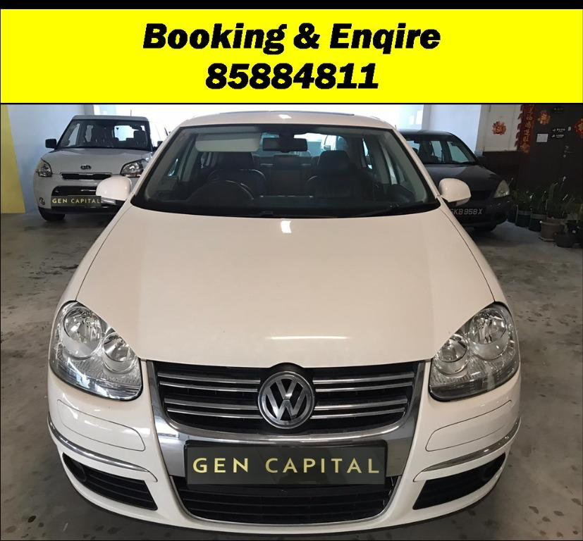 Volkswagen Jetta JUST IN! Superb condition with cheapest rental in town! Fuel efficient & Spacious. $500 Deposit driveoff immediately! whatsapp 85884811 now to reserve!!
