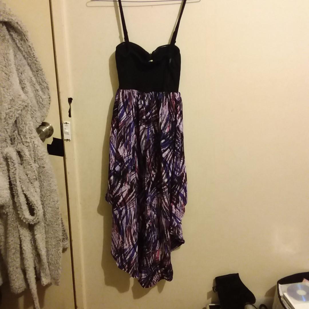 Womens mixed colour Flow Strap/Strapless Summer Dress