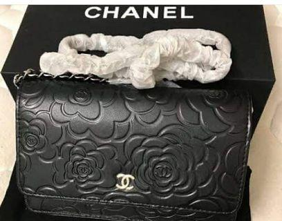 Chanel VIP gift Camellia Wallet on chain
