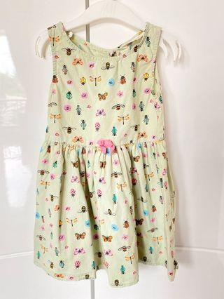 H&M insect green dress