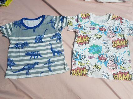 Kaos anak dino and typo