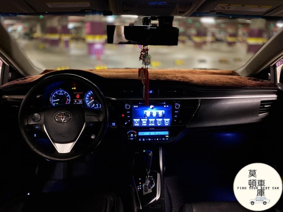 2014年 Toyota Altis Z版 1.8 18吋鋁圈 摸門 Ikey 倒車顯影 空力套件 天窗 快播 可認證 可保固 實車在庫