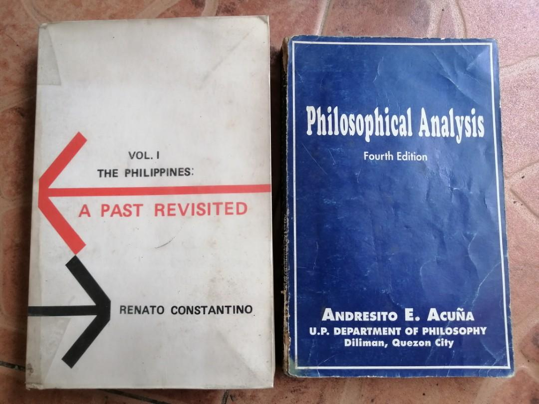 A PAST REVISITED by Renato Constantino  PHILIPPINE CONSTITUTION by Andresito Acuna