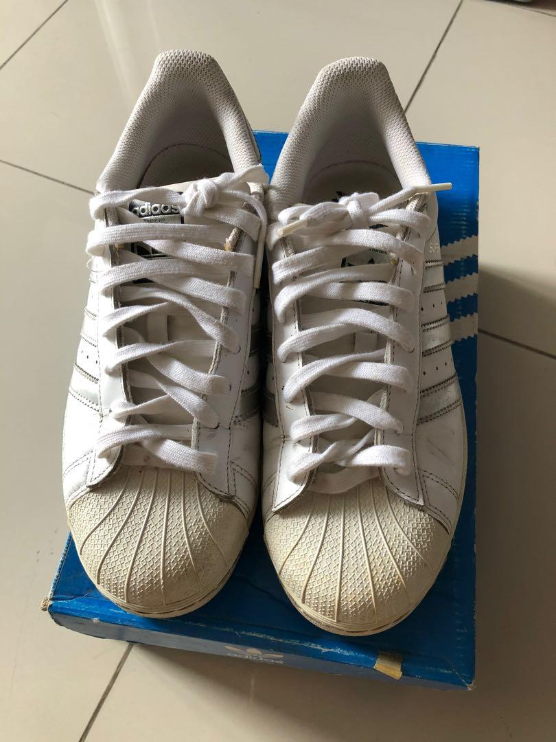 adidas superstar putih silver