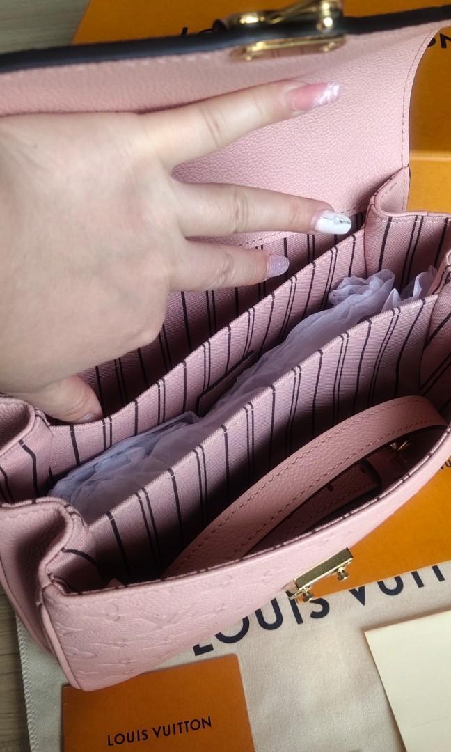 💯AUTHENTIC FULL SET BRAND NEW POCHETTE METIS brand new lv Louis vuitton in Rose Poudre pink messenger Monogram Empreinte Leather