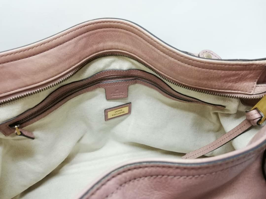 AUTHENTIC GUCCI LEATHER TOTE BAG WITH LONG STRAP- WITH DUSTBAG - (RETAILS AROUND RM 5000+)