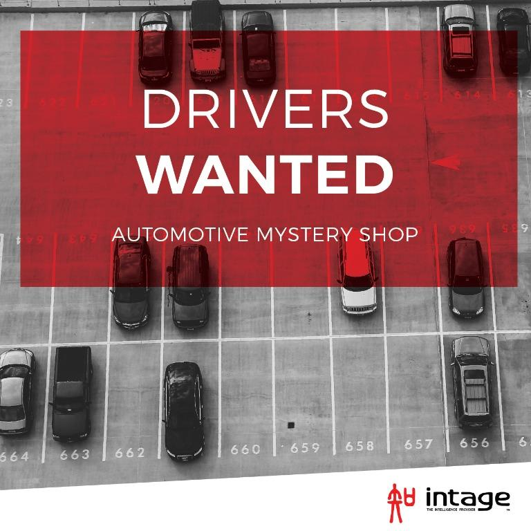 AUTOMOTIVE MYSTERY SHOPPERS - up to $200 per completed