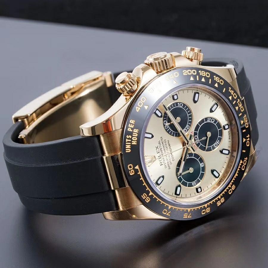 "Brand New ROLEX Cosmograph Daytona Solid Yellow gold Ceramic Bezel 40mm Oysterflex watch. Model 116518LN ""LIMONCELLO"" Swiss made."