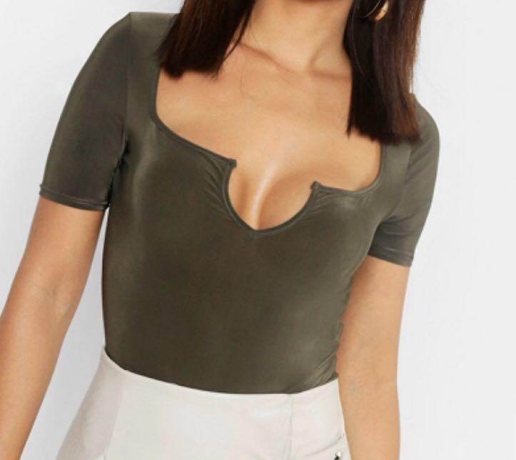 Brand New Size 8 Slinky Notch Short Sleeve Bodysuit