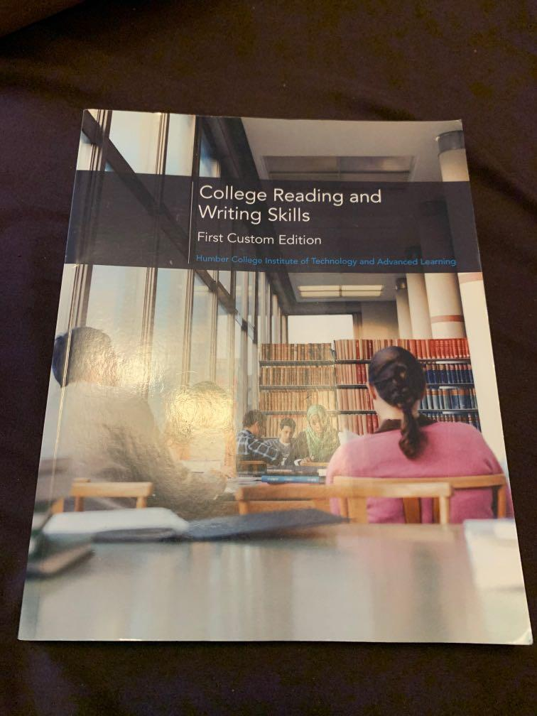 College Reading and Writing Skills Humber college textbook